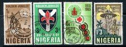 Nigeria 1965 50th Anniversary Of Nigerian Scout Movement Set Used (SG 157-160) - Nigeria (1961-...)