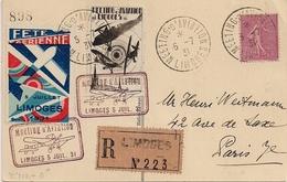 Meeting D'aviation De Limoges - 1931 - Timbres