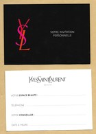 Carte Promo Publicitaire Adversiting Card Make Up YVES SAINT LAURENT YSL * R/V - Modern (from 1961)