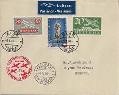 Poste Aérienne Sion-Genève - 1940 - Timbres