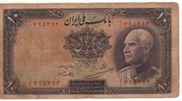 IRAN 10  Rials     Portrait Shah Reza  P33Aa  (1937) - Irán