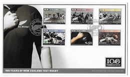 FDC 100 Years Of New Zealand Test Rugby - Rugby