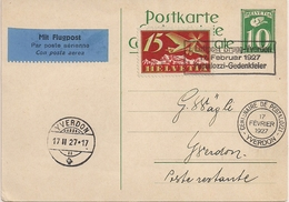 Poste Aérienne - Yverdon - 1927 - Timbres