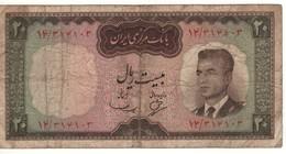 IRAN 20  Rials     Portrait Shah Pahlavi  P78a  (1965) - Iran