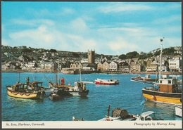 St Ives Harbour, Cornwall, C.1980s - Murray King Postcard - St.Ives