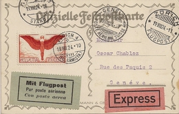 Poste Aérienne Zurich-Genève - 1924 - Timbres