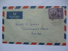NYASALAND 1953 Air Mail FDC Rhodes Centenary - Nyasaland (1907-1953)