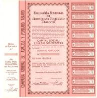 ACCION ANTIGUA - ACTION ANTIQUE = COMPAÑIA GENERAL DE ASFALTOS Y PORTLAND ASLAND 1975 - Acciones & Títulos