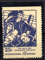Viñeta  Spanish People Y International Volunteers. - Vignettes De La Guerre Civile