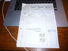 FF5 Document Commercial   Facture  Edmond Charles Haine Saint Pierre - Belgique