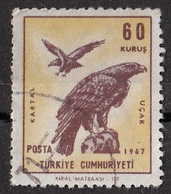1959 C45 Gabbiani -  Golden Eagle - Aquila - Turkey Turkiye Used Posta Aerea - 1921-... Republic