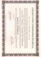 ACCION ANTIGUA - ACTION ANTIQUE =  CONSTRUCCIONES INMOBILIARIAS PELAYO SA 1967 - Sin Clasificación