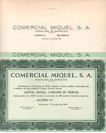 ACCION ANTIGUA - ACTION ANTIQUE =  COMERCIAL MIQUEL SA 1945 - Acciones & Títulos