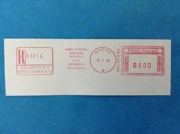 1981 ITALIA AFFRANCATURA MECCANICA ROSSA EMA RED - BANCO DI NAPOLI DIREZIONE GENERALE CED VIA MARCONI 80125 - Affrancature Meccaniche Rosse (EMA)