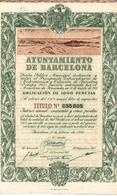 ACCION ANTIGUA - ACTION ANTIQUE =  AYUNTAMIENTO DE BARCELONA 1950 - Sin Clasificación