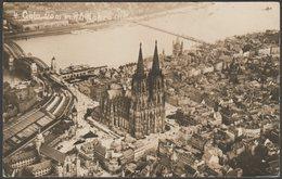 Flugbild, Dom, Bahnhof Und Rheinbrücke, Cöln, C.1910s - Foto AK - Koeln