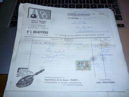FF5 Document Commercial   Facture  J Delrivière La Louvière - Belgique