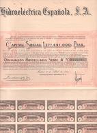 ACCION ANTIGUA - ACTION ANTIQUE =  HIDROELECTRICA ESPAÑOLA 1954 - Acciones & Títulos