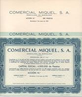 ACCION ANTIGUA - ACTION ANTIQUE = COMERCIAL MIQUEL 1952 - Acciones & Títulos