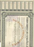 ACCION ANTIGUA - ACTION ANTIQUE = FERROCARRILES DE CATALUÑA 1968 - Acciones & Títulos
