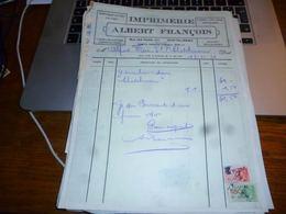 FF5 Document Commercial   Facture  François Châtelineau Imprimerie - Belgique