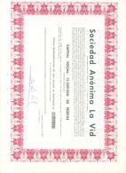 ACCION ANTIGUA - ACTION ANTIQUE = SOCIEDAD ESPAÑOLA LA VID 1975 - Acciones & Títulos
