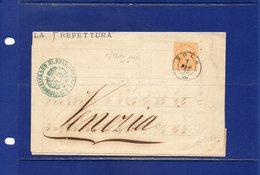 ##(DAN183)-7-2-1876-Dolo(Venezia)-porzione Di  Piego   Per Venezia Con Cent.10 Ocra - Storia Postale