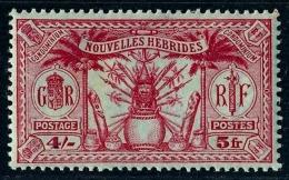 NOUVELLES HEBRIDES 1925 - Yv. 90 *   Cote= 9,70 EUR - Idole Indigène 4s - 5f  ..Réf.AFA22980 - Leyenda Inglesa
