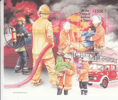 1999 Chile Fire Engine Fire Fighters Rescue Souvenir Sheet MNH - Chile