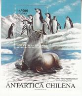 1999 Chile Antarctica Seal Penguins  Souvenir Sheet MNH - Chile