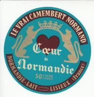 Etiquette De Fromage Camembert - Coeur De Normandie. - Cheese