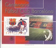 1999 Chile Barcelona Football Club  Souvenir Sheet MNH - Chile