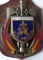 INSIGNE SAPEURS POMPIERS SAINT CEZAIRE - Firemen