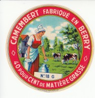 Etiquette De Fromage Camembert - Berry - Cher. - Fromage