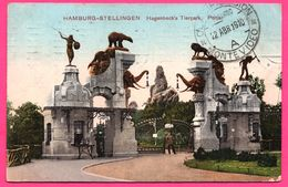 Hamburg Stellingen - Hagenbeck's Tierpark - Portal - EFFKA - 1910 - Colorisée - Stellingen