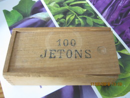 COFFRET BOIS 100 JETONS - Jeux De Société
