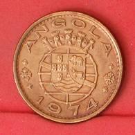 ANGOLA 1 ESCUDOS 1974 -    KM# 76 - (Nº21256) - Portugal