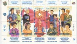 1999 Venezuela Holy Sacrament Health Doctor Basketball Church Miniature Sheet Of 10  + Souvenir Sheet MNH - Venezuela