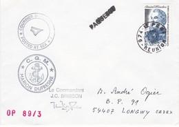 TAAF 168 - YT N° 128  - Marion Dufresne Posté à Bord  OP 89/3- Le Port 1989 - Französische Süd- Und Antarktisgebiete (TAAF)