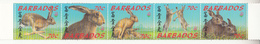 1999 Barbados Year Of The Rabbit Strip Of 5 Complete MNH - Barbados (1966-...)