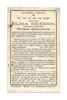 D 34. ELISA  SKEEGS  Echtg. T. Schevenels -  °PETERSBOURG (ENGELAND)  /  +ST-TRUIDEN 1878  (38j.) - Andachtsbilder