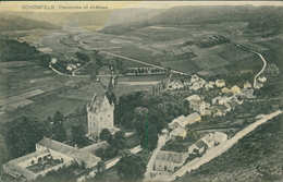 AK Schönfels, Panorama Et Château, Ca. 1910er Jahre, Oberer Rand Wellig, Eckknick, Fleckig (29564) - Ansichtskarten