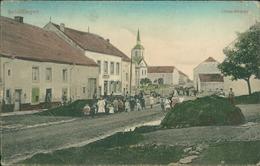 AK Schifflingen Schifflange, Oben-Strasse, O 1909, Große Druck-/Knickstellen Oben (29565) - Ansichtskarten