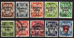 Deutsches Reich, 1939, Mi 716-722; 724; 726-727, Gestempelt [130414X] @ - Germania