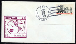 "US Navy, USS""TICONDEROGA"" (CVS-14) SKYLAB 11, 1973, Look Scan, RARE !! 16.3-14 - Bateaux"