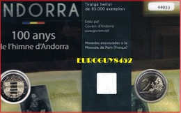 ANDORRA - 2 € 2017 BU - 100 JAAR VOLKSLIED - Andorre