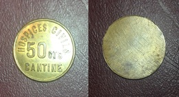 FRANCE - Monnaie De Nécessité - STRASBOURG (67) - Hospices Civiles - 50 Cts CANTINE (Uniface) - Rare - Monétaires / De Nécessité