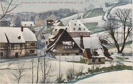 Photochromie AK Frohnauer Hammer Winter Schnee Bei Frohnau Annaberg Dörfel Schlettau Elterlein Vogel Schwarzenberg - Elterlein