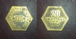 FRANCE - Monnaie De Nécessité - YERRES (91) - Filature De L'Abbaye - 20 CENTIMES 1884 - Très Rare - Noodgeld