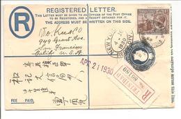 Trinidad Stationary Registerd Letter 1930>U.S.A. Senders Adress Chinese - Trinidad En Tobago (...-1961)